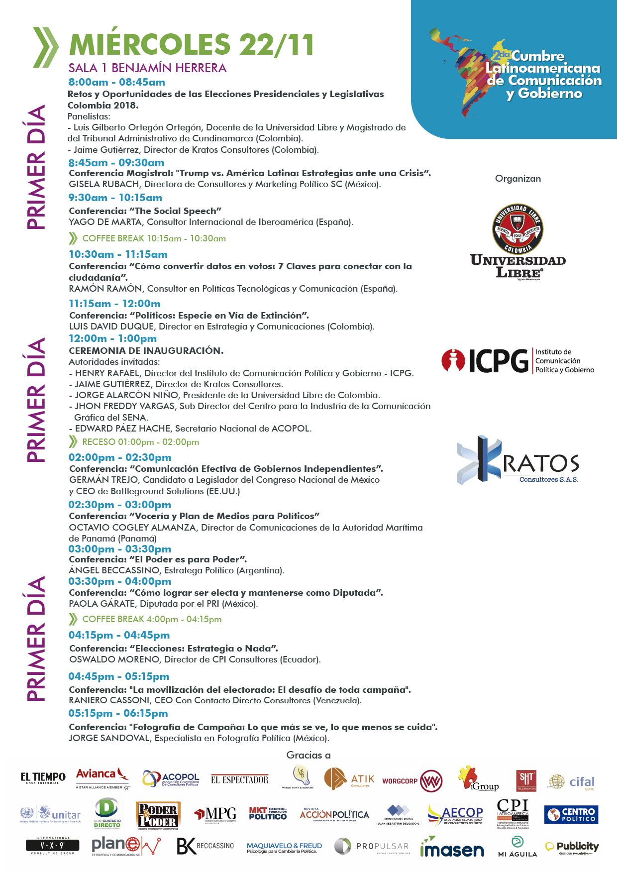 miercoles - Programa Cumbre Comunicacion y Gobierno - Bogotá_Viernes 13 - Pachacamac